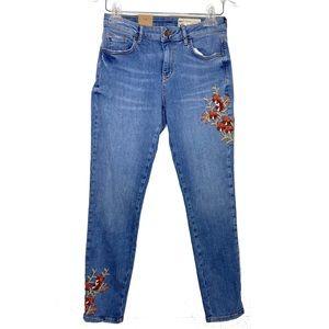 Esprit Jambes Slim Floral Embroidered Skinny Jean